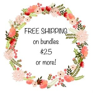 Free shipping on $25 bundles or more :)